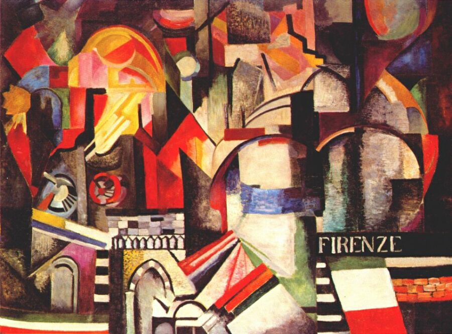 О. Екстер. Флоренція, 1914-1915.