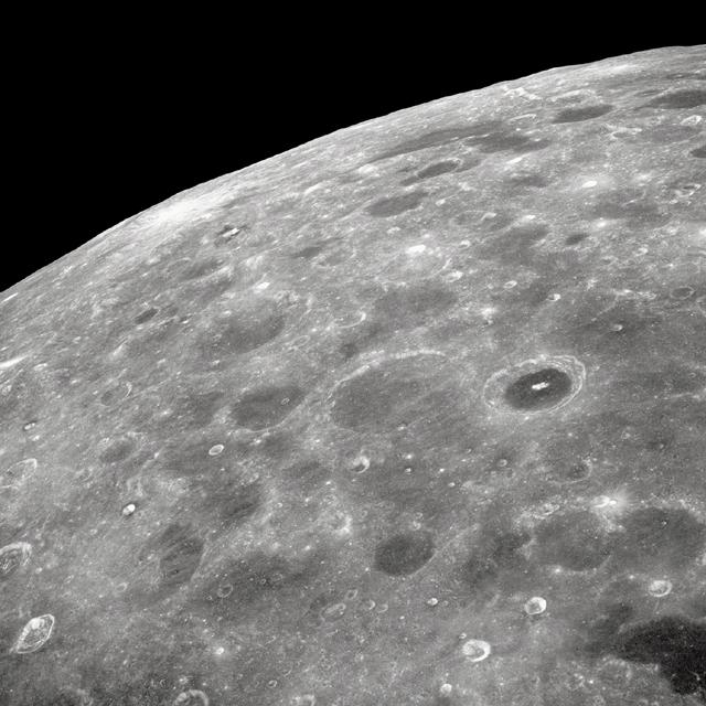 Lunar Farside, As Seen by Apollo 8