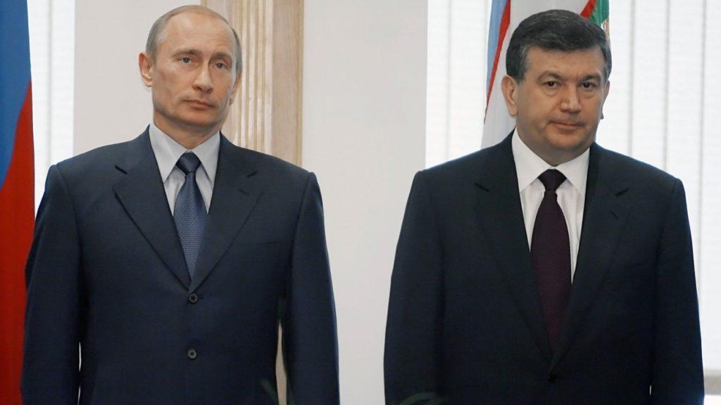 Шавкат Мирзиёев c Владимиром Путиным. Источник: Informburo.kz