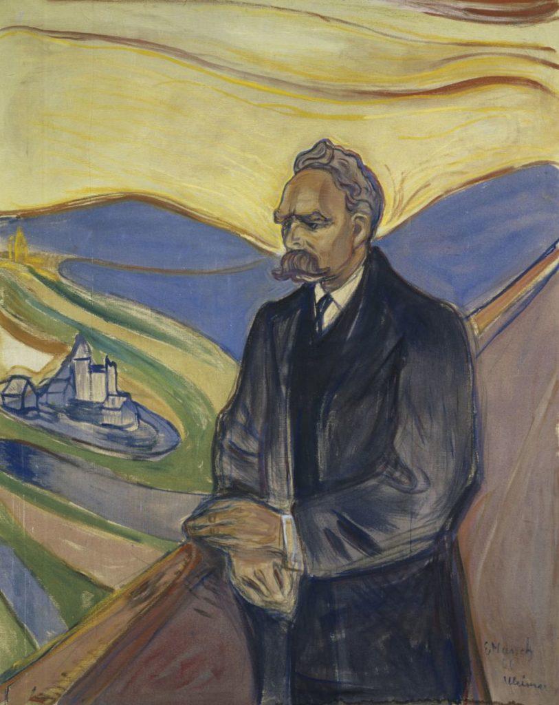 Ніцше — супротивник застиглих доктрин. Він завжди шукає різноманітних форм думки, розповідає Тарас Лютий. На фото - портрет Ніцше роботи Едварда Мунка, який він написав через шість років після смерті філософа, у 1906 році/ Wikimedia