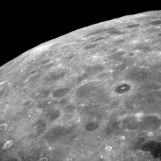 Lunar Farside, As Seen by Apollo 8